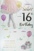 Sister 16th Birthday Card